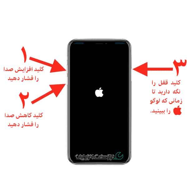 گیر کردن روی لوگوی اپل