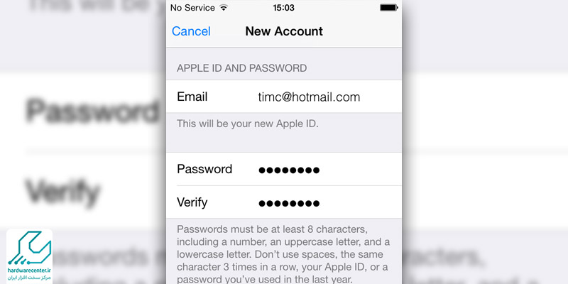 آموزش ساخت اپل آیدی Apple ID