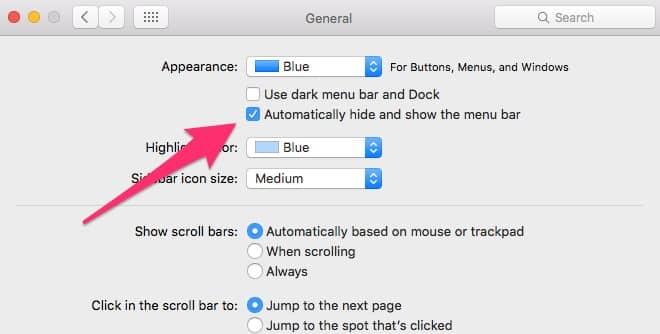آموزش پنهان کردن منوی سیستم عامل لپ تاپ اپل