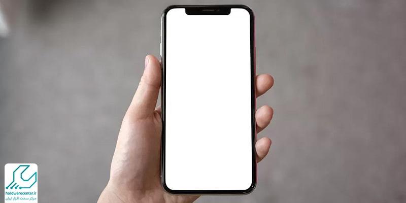 سفید شدن صفحه گوشی آیفون